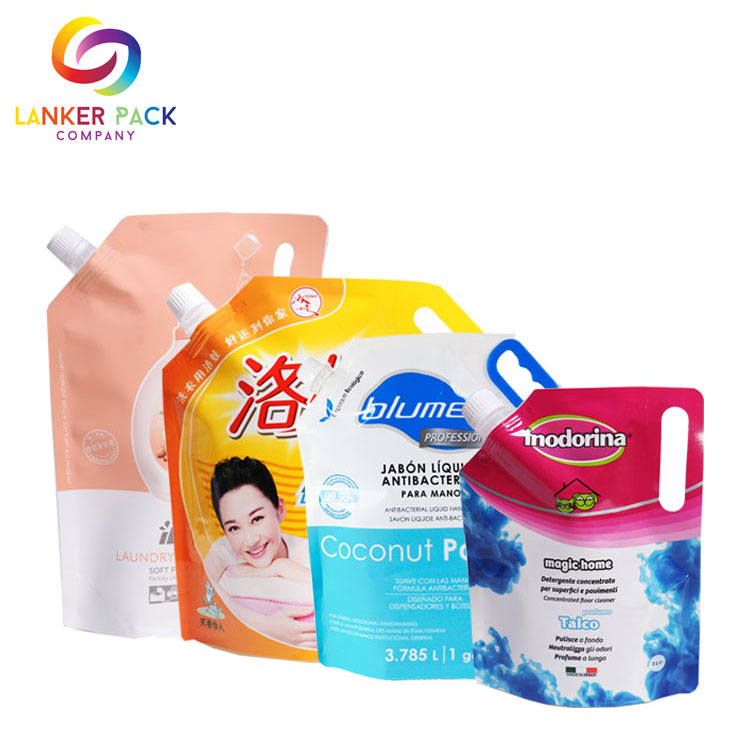 High Quality Custom Plastic Liquid Pouch With Spout
