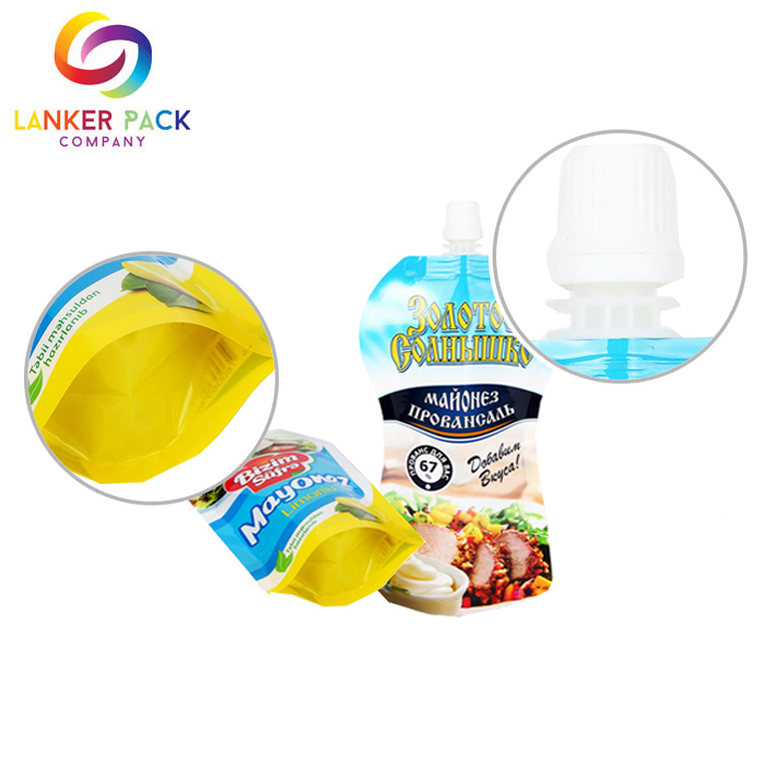 Reusable custom shaped baby food doypack pouch