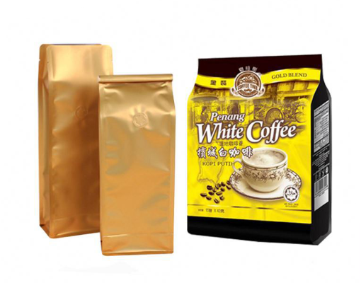 Flat Bottom Plastic Coffee Packaging Bag