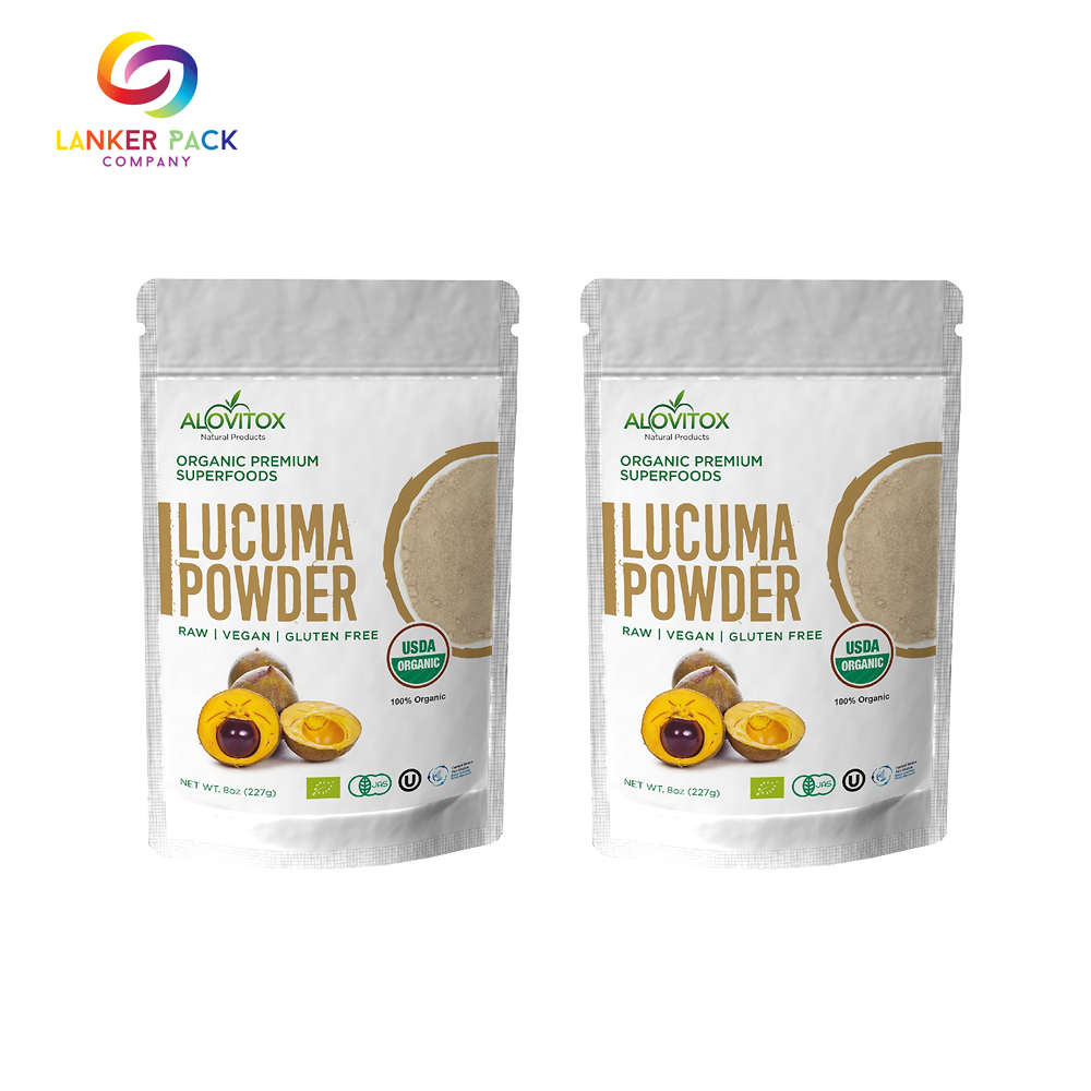 Leakproof Laminated Aluminum Stand Up Powder Packaging
