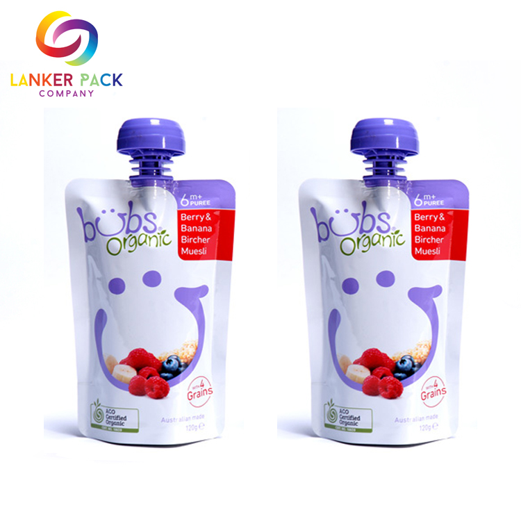 BPA Free baby food pouch reusable spout